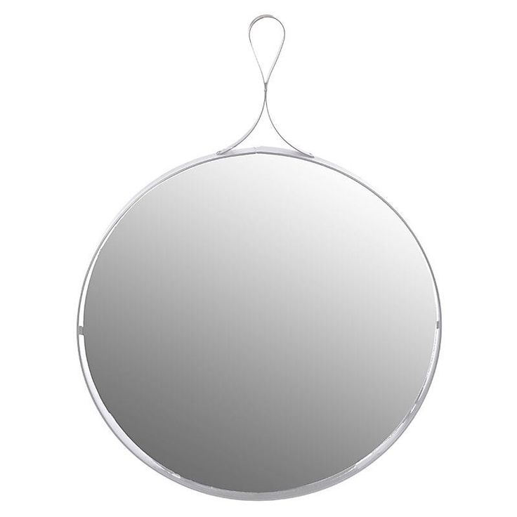 METAL WALL MIRROR IN WHITE COLOR 30X3X30/44 - inart