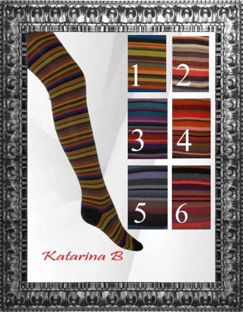 Damen Ringel Muster Strickstrumpfhose 38-46 Crönert Ringel Strumpfhose | eBay