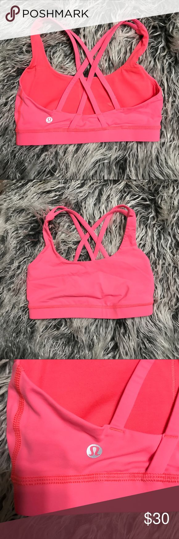 Lululemon Bra Used but in excellent condition. No rips or stains. Inserts Not included. Size 6 lululemon athletica Tops