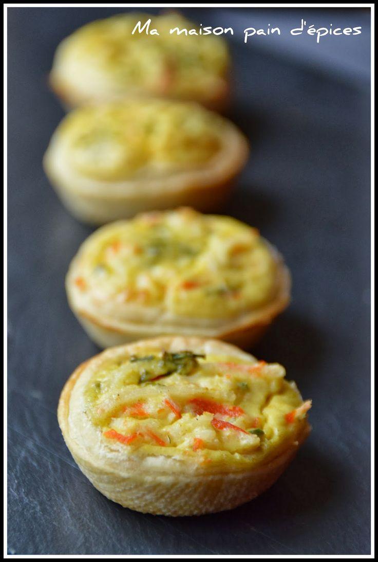 Ma Maison Pain d'Epices  Tartelettes au crabe et au curry  (apéro)
