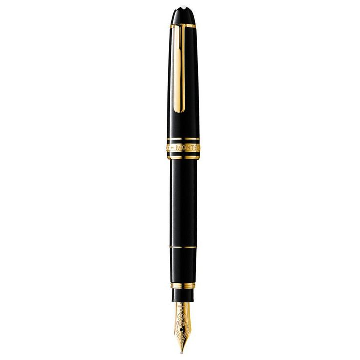 Montblanc 107702 Meisterstuck Hommage Mozart Black Resin Gold Plated Small Fountain Pen