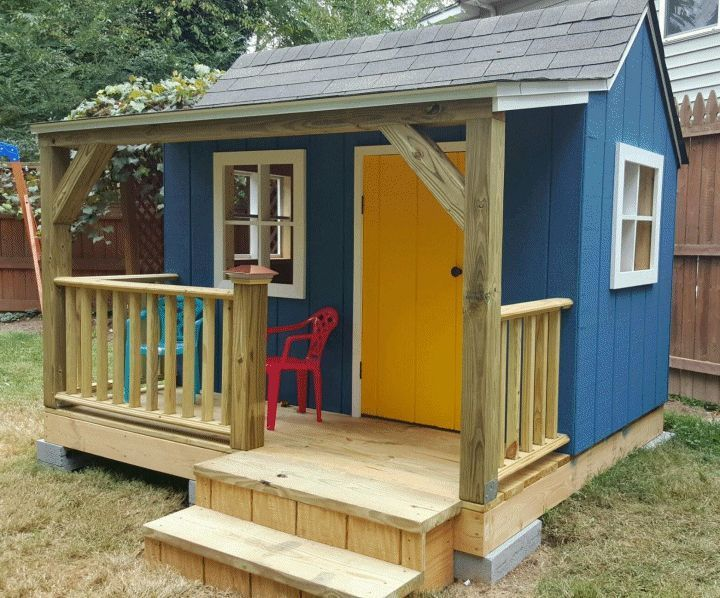 The 25 best ideas about playhouse plans on pinterest for Playhouse with garage plans