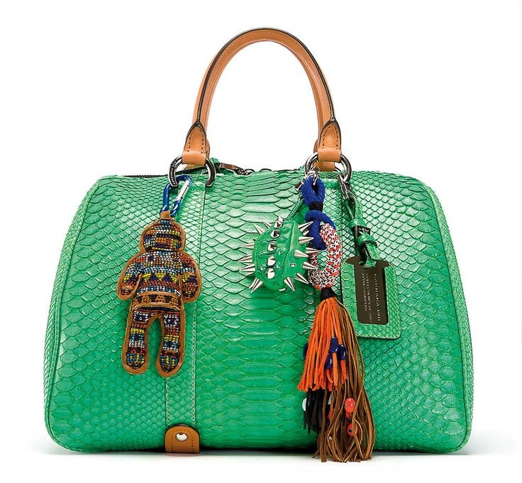 "Barbara Bui Dude ""Bowling"" bag in python - Summer 2012"
