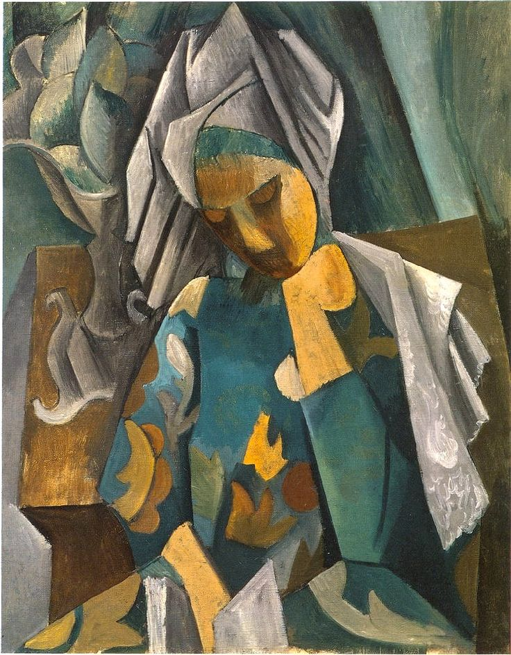 Tableaux sur toile, reproduction de Picasso, Reine Isabeau, 92x73cm
