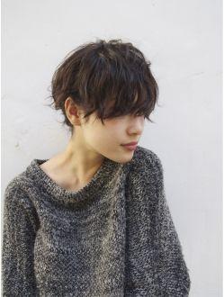 ナヌーク シブヤ(nanuk shibuya) 【nanuk】顔周りを残したアンニュイショート × クセ感パーマ