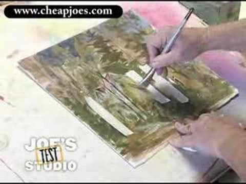 """""""Watercolor Demonstration: Using Artists Tape and the Fritch Scrubber"""" Welcome to Cheap Joe's Test Studio! Today I'd like to show you how I use the Artist Tape and the Fritch Scrubber combined to clean up some dirty areas of watercolor--areas that are dull and need a little lift, a little light brought into them..."""