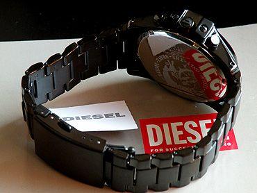 ディーゼル時計アナログDIESELDZ4180海外モデルオールブラックメタル黒クロノグラフ付き/24時間