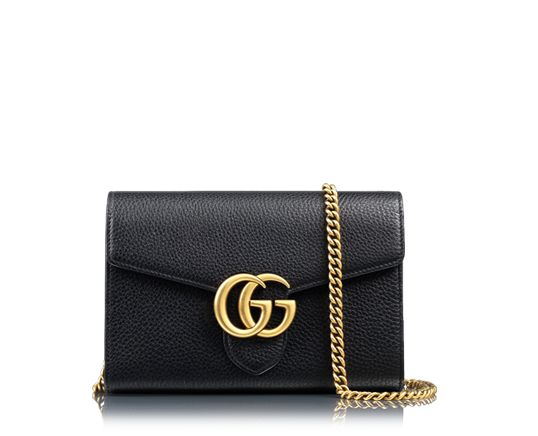 Gucci Marmont Leather Chain Wallet