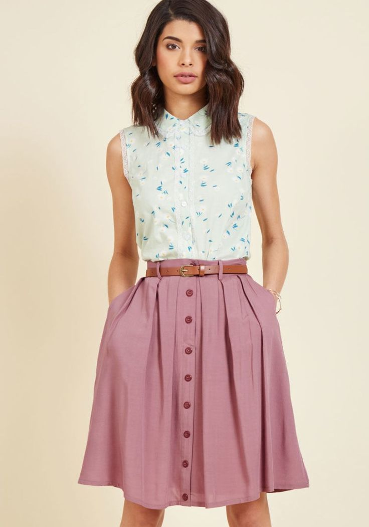 Bookstore's Best A-line skirt with pockets #wewantpockets #pocketsrock www.pocketsrock.com; skirts with pockets
