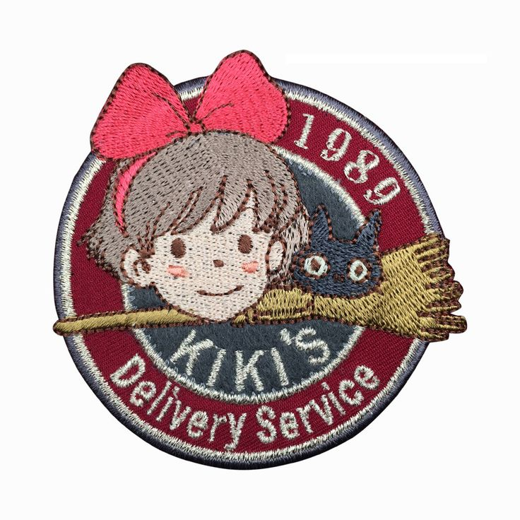 1989 Kiki's Delivery Service Patch Embroidered Animation Sew on Iron on Patchesmeet you on Fleckenworld.com