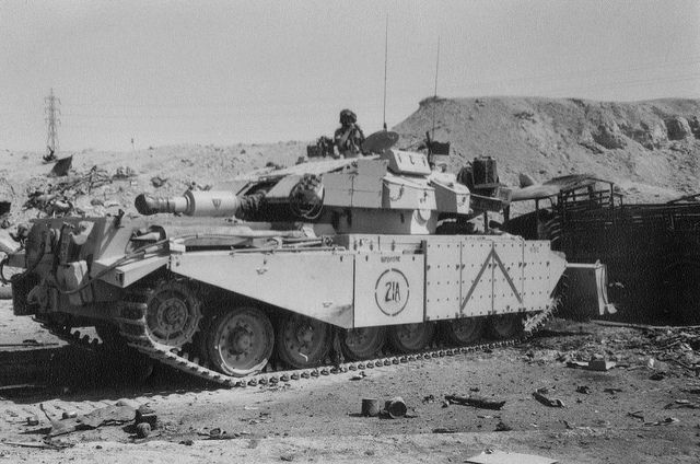 British Army Centurion AVRE at Mutla Pass Kuwait.