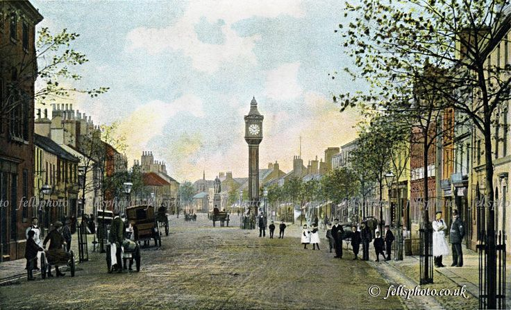 Cockermouth Main Street c.1900 (colour tinted)