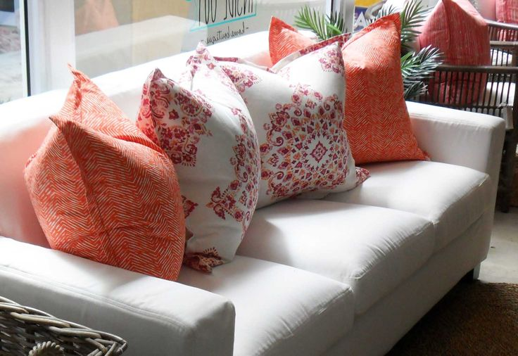 Our Madison Sofa with gorgeous new scatters - Inside Out Home Boutique