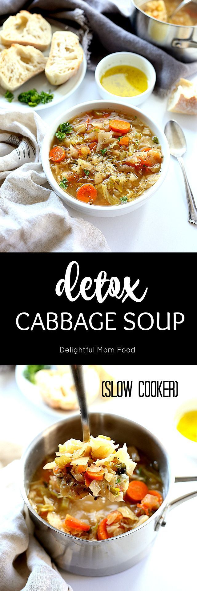 Hearty cabbage soup diet recipe slowly cooked in the slow cooker. Also known as the popular Dolly Parton Diet or T.W.A. Stewardess Diet. Whatever diet, this soup is satisfying and delicious! Packed with colorful vegetables, leafy green vegetables, broth and miso soup flavoring.