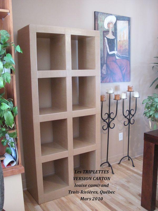 Les TRIPLETTES... mes premiers meubles-étagère-bibliothèque-carton
