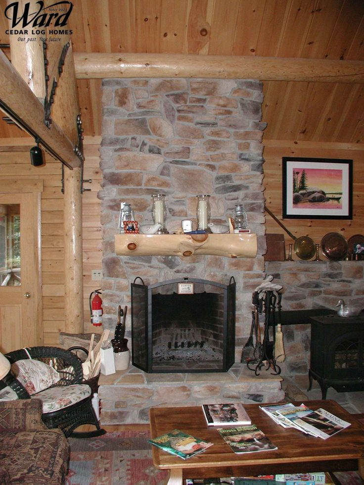 Top 25 ideas about ward log home fireplaces on pinterest for Log home fireplaces