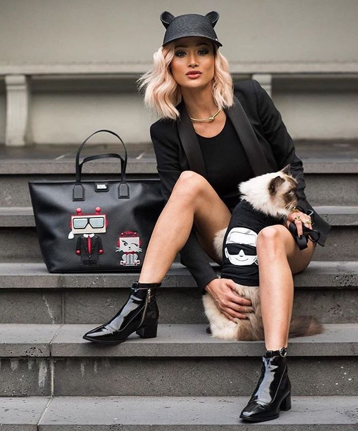 """""""From head to ...cat in #KARLLAGERFELD ! @micahgianneli   What's your favorite SS16 piece? Choose on KARL.com"""""""
