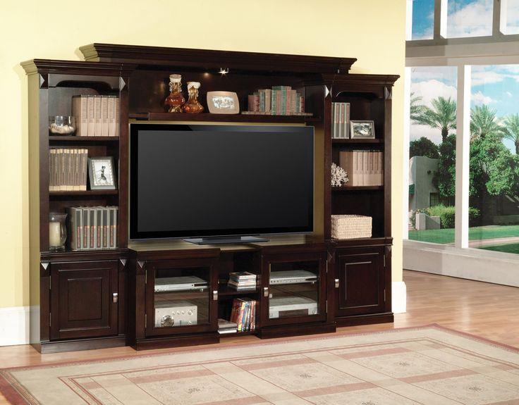 Parker House Premier Auburn 43 Inch Expandable TV Console   Darvin Furniture    TV Or