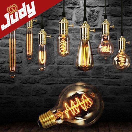 ST64 T10 G95 G80 Vintage edison retro lighting 40W E27 Bulbs incandescent Silk Light bulb  Retro lights - http://www.aliexpress.com/item/ST64-T10-G95-G80-Vintage-edison-retro-lighting-40W-E27-Bulbs-incandescent-Silk-Light-bulb-Retro-lights/32225028596.html