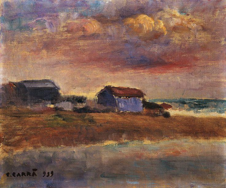Carlo Carra - La capanna dell'ostricaio (Tramonto), 1939