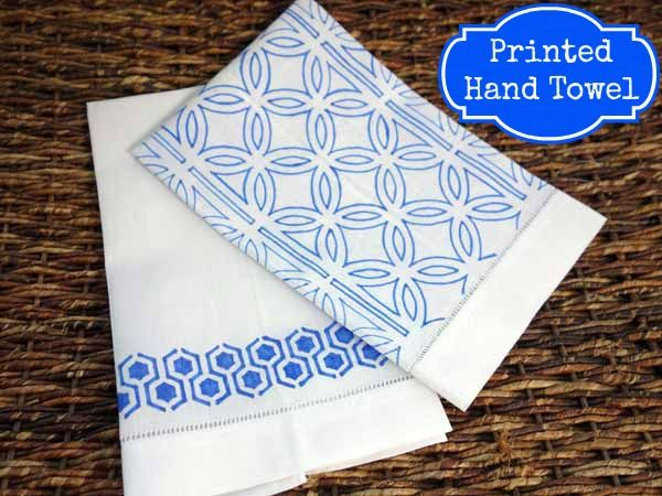 Stencil linen guest towels using a fabric marker crafts markers stencil linen guest towels using a fabric marker crafts markers and hand towels junglespirit Choice Image
