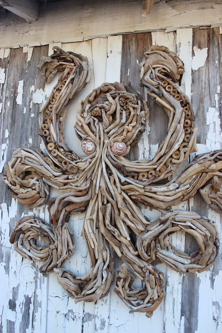Elegant Handcrafted Driftwood Sculptures and Decorative Driftwood Hangings