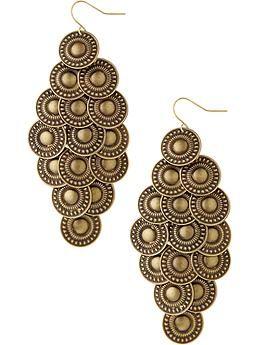 Women's Chandelier Disk Earrings   $8.94