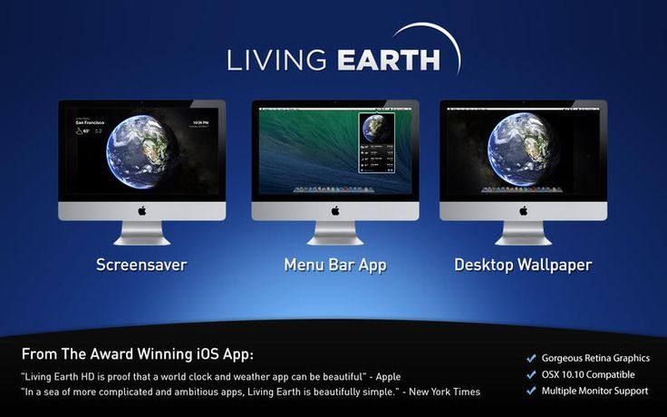 Living Earth - Desktop Weather & World Clock by Radiantlabs, LLC