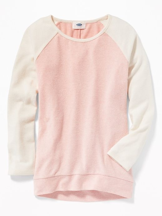 e1b2fd52bfd Plush-Knit Baseball Tunic Sweater for Girls in 2019 | Clothes ...