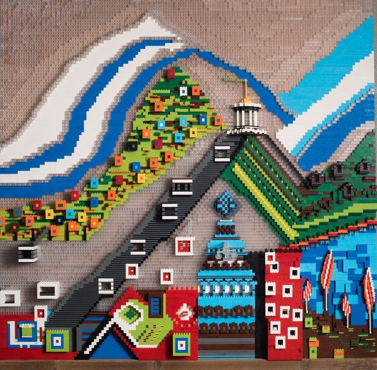Berglandschap Marjon Edzes 2015 122 x 123 x 13