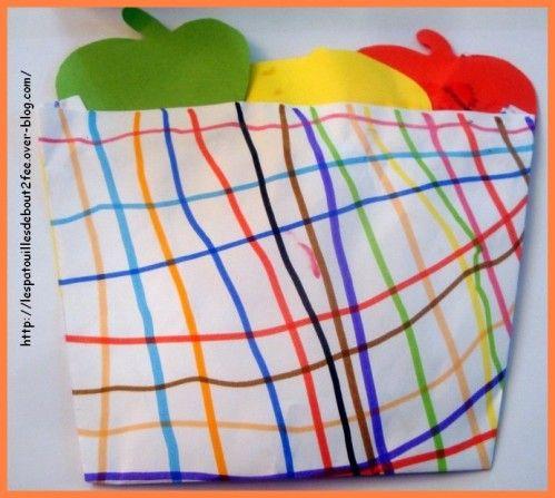 faire le quadrillage du panier de pomme