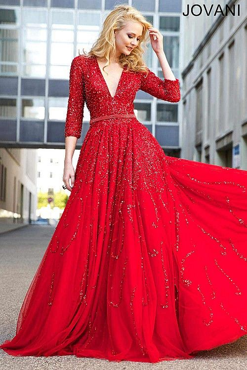 Red A-Line Dress 21466