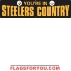 Steelers Country Black Banner 8' x 2'