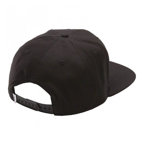 Vans Full Patch Snapback Hat True Black ($26) ❤ liked on Polyvore featuring accessories, hats, black, adjustable hats, black 5 panel hat, black hat, patch hat and black snapback hats
