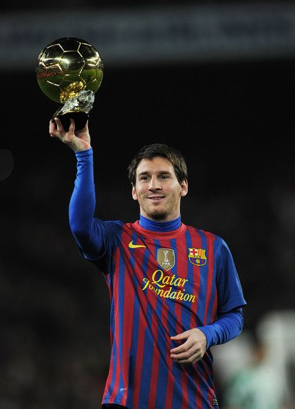 Lionel Messi is the first football player in history to win four FIFA/Ballon d'Or – all of which he won consecutively – as well as the first to win three European Golden Shoe awards. Messi has won six La Ligas, two Copas del Rey, five Supercopas de España, three UEFA Champions Leagues, two Super Cups and two Club World Cups. In March 2012, Messi made Champions League history by becoming the first player to score five goals in one match.