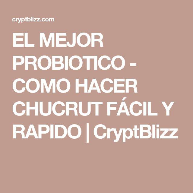 EL MEJOR PROBIOTICO - COMO HACER CHUCRUT FÁCIL Y RAPIDO | CryptBlizz