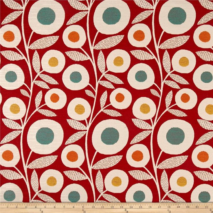 Richloom Wink Jacquard Rouge from @fabricdotcom  From Richloom, this very heavyweight jacquard upholstery fabric is appropriate for accent pillows, upholstering furniture, headboards and ottomans. Colors include red, blue, orange, yellow and white.