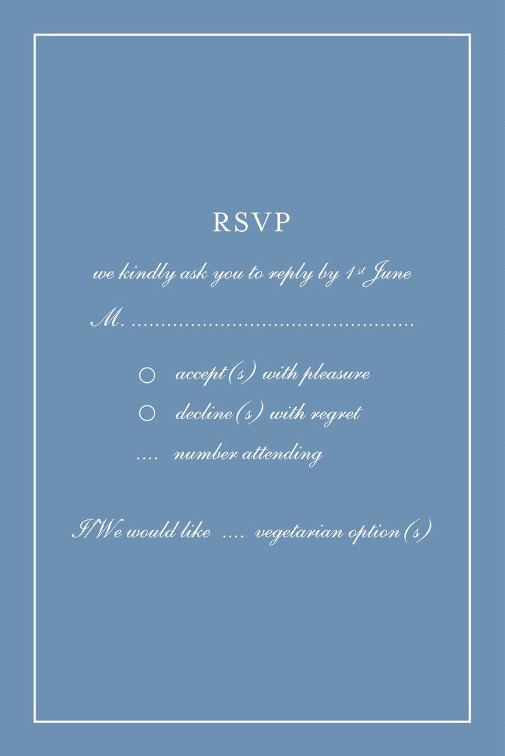 26 best Wedding   RSVP Cards images on Pinterest