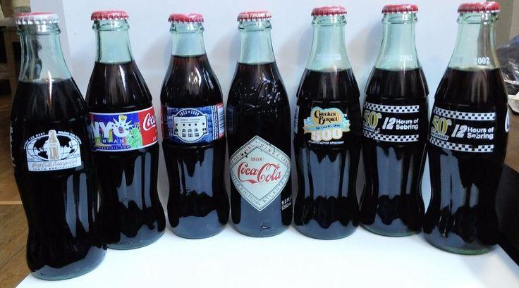Lot 7 COCA COLA 8oz Bottles NYC Yankee Stadium CRACKER BARREL Enterprises #Coke