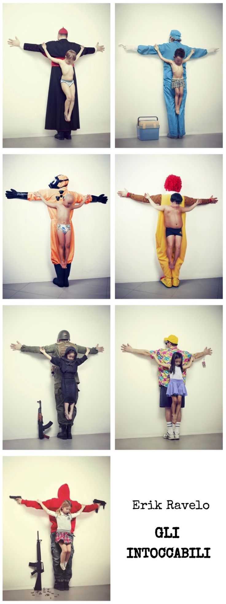 """Series produced by Erik Ravelo. """"...seeks the right of children to be protected and report abuses [the children] suffer especially in countries like Brazil, Syria, Thailand, United States, and Japan""""."""