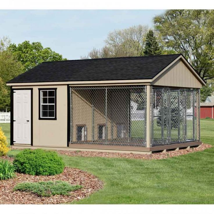 12 x 18 ft amish made large 3 run dog kennel with feed room - Dog Kennel Design Ideas