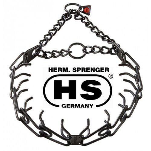 Herm Sprenger Black Stainless Steel 225mm Pinch  Prong Collar Fits up to 15 Neck  3 Extra Black 225mm Links Will Fit up 18 Neck size >>> Find out more about the great product at the image link. This is an Amazon Affiliate links.