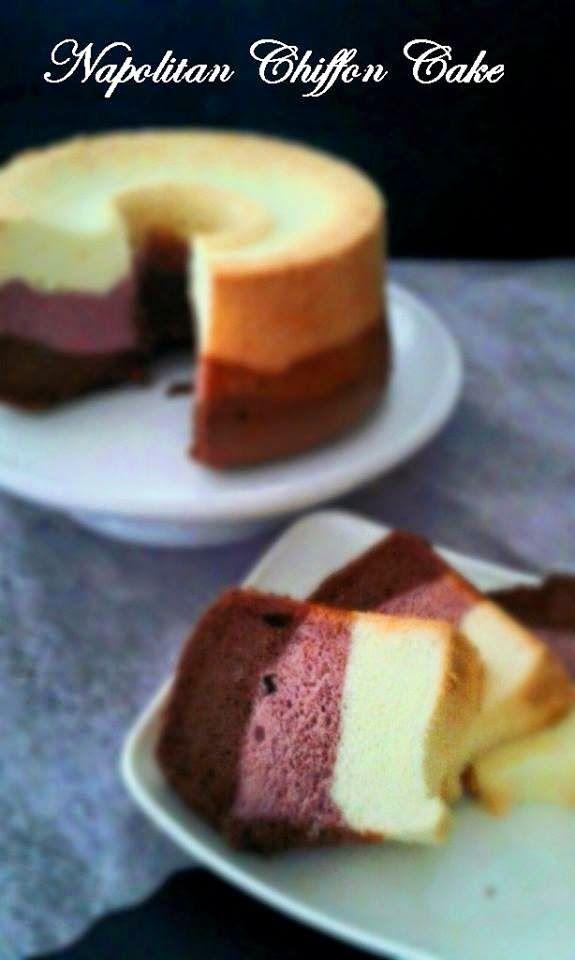 Baking's Corner: Napolitan Chiffon Cake ( 拿波里戚风蛋糕 ) - by Kris Lim