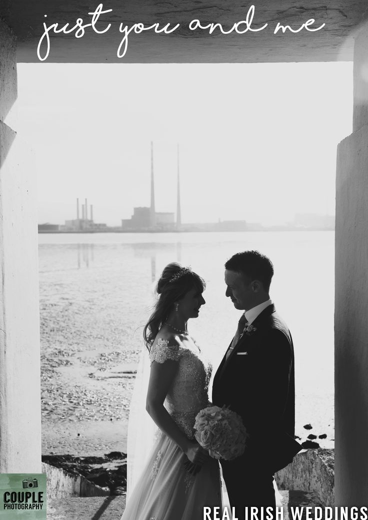 Gillian & Gary in front of the famous Poolbeg Chimneys on Clontarf seafront. Take a look at their real wedding over on our blog.