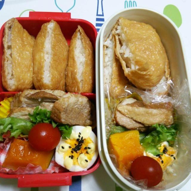 おはようございます。今日のお弁当 焼豚(toviさん、ありがとうございます) ゆで卵 かぼちゃ煮物 ミニトマト おいなりさん(ご飯多すぎて口閉まらず(笑) です。 連休の合間ですが、元気に参りましょう!(^^)! - 113件のもぐもぐ - 4月28日 高校生女子&オレ弁当 toviさんの簡単♪豚バラチャーシュー入り♪ by tetoh1