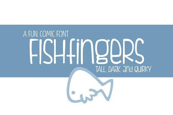 Fishfingers by Brittney Murphy Design on @creativemarket
