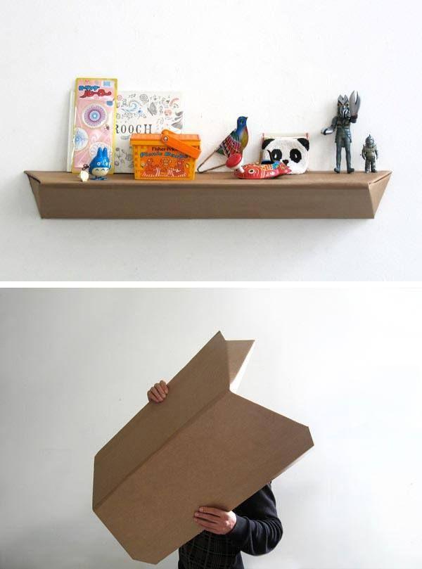 Sorprendente estante de cartón - Muy Ingenioso