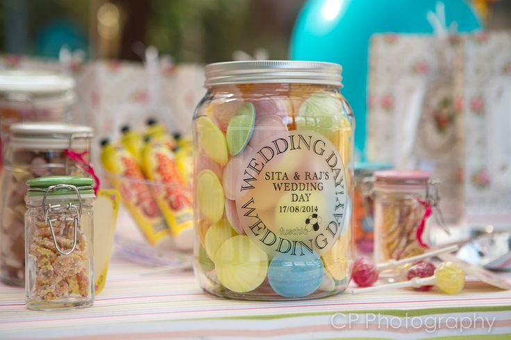 Everyone loves sweets at a wedding.  Fuschia's new jumbo candy jars are personalised with your names and wedding dates.  The jar is your to keep after all your guests have enjoyed the contents.  Why not refill them as a sweet keepsake by www.fuschiadesigns.co.uk.