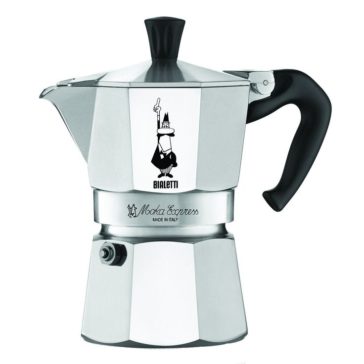 The Original Bialetti Moka Express Made in Italy 3-Cup Stovetop Espresso Maker with Patented Valve * More info could be found at the image url.