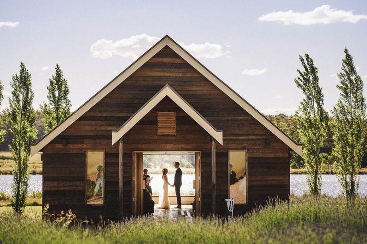 barn chapel wedding at Sault Daylesford